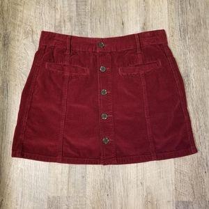 American Eagle Corduroy A-Line Skirt